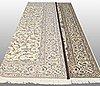 A carpet, nain part silk, so called 9 laa, ca 360 x 255 cm