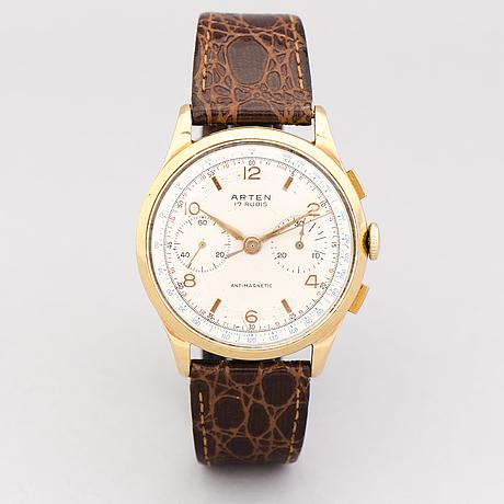 Arten, chronographe, wristwatch, 37.5 mm