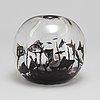 A 'fiskgraal' glass vase by edward hald orrefors 1957.