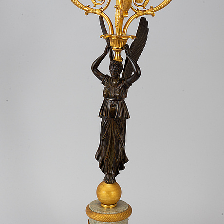 An empire style candelabrum, ca 1900.