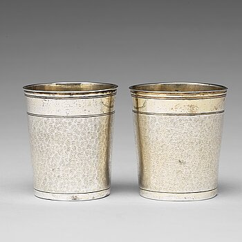 165. A matched pair of German 17th century parcel-gilt silver, Augsburg (1627-1665).