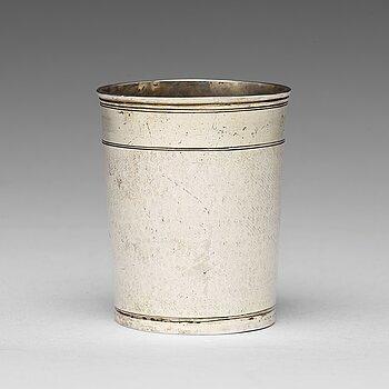 168. A German early 18th century parcel-gilt silver beaker, mark of Johann Christopher Treffler, Augsburg 1712-1715.