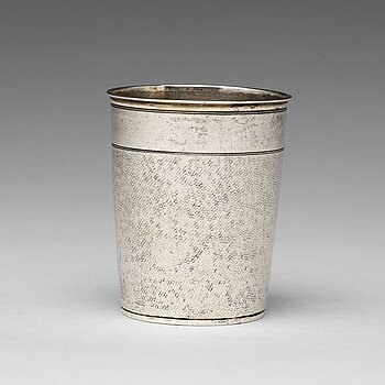 167. A German 17th century parcel-gilt silver beaker, mark of Thomas Ringler, Nürnberg (1661-1704).