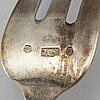 An austrian / hungary 20th century silver 36 piece table-set.
