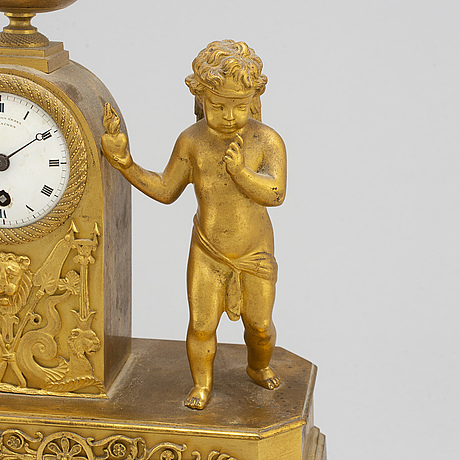 A german empire mantel clock, early 19th century