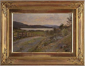 HILMA AF KLINT, oil on canvas laid down on panel, signed H. af Klint.