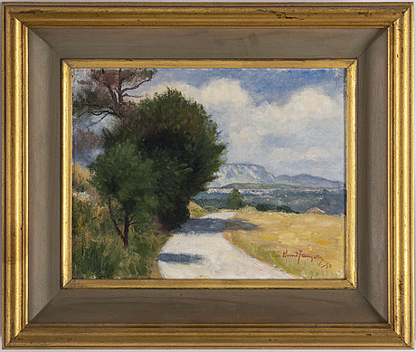 Knut janson, oil on canvas laid down on masonite, signed knut janson and dated -50.