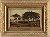 Henri rouart, oil on panel, bears signature h. rouart