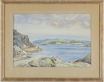VERA SCHÜTZ, watercolour, signed Vera Schütz and dated 1945.