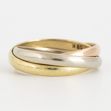 Cartier trinity ring, 18k gold in three colours.