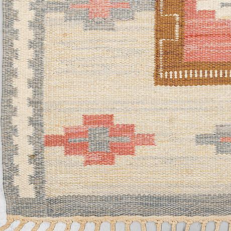 Anna-greta sjÖqvist, a carpet, flat weave, ca 240 x 169 cm, signed ags.