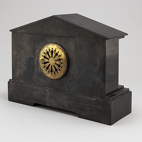 A french stone mantle clock, circa 1900