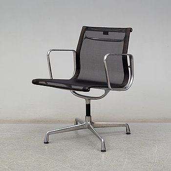 CHARLES & RAY EAMES, a model EA107 desk chair from Vitra.