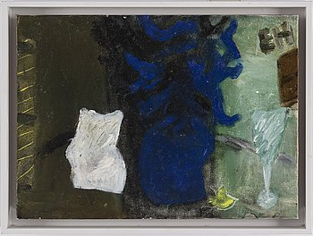 EBBA HAMMARSKIÖLD, oil on panel, signerad, 1998.