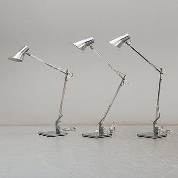 """ANTONIO CITTERIO, bordslampor, 3 st, """"Kelvin T"""", för Flos, 2000-tal."""