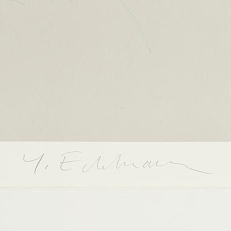 YrjÖ edelmann, färglitografi, signerad och numrerad 54/175.