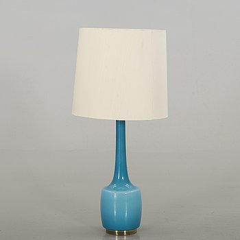 A 1970's Holm & Sorensen glass table lamp.