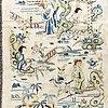 A silk textile, qing dynasty, 19th century.