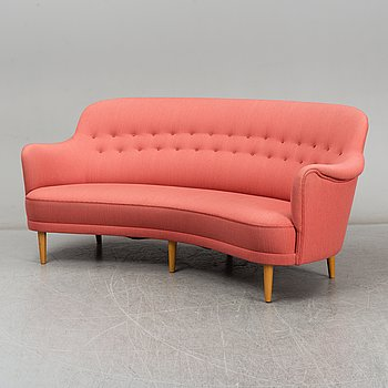 A 'Widare' sofa by Carl Malmsten, for AB O.H Sjögren, signed.
