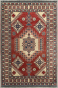 An old Kazakstan carpet Cuba-design ca 176 x 125 cm.