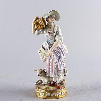 An early 20th century Meissen porcelain figurine.