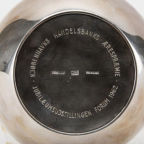A sterlingsilver danish corh jug. weight 600 grams.