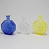 Glasflaskor, 3 st, glas, finland, 1900 talets mitt