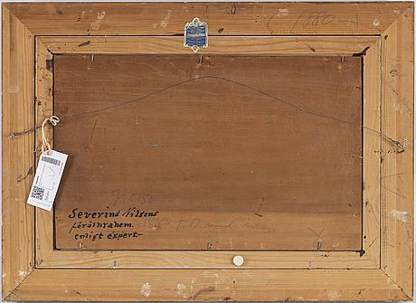 Severin nilson, oil on panel, signed