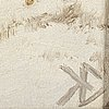 Knut ekwall, olja på duk monogramsignerad