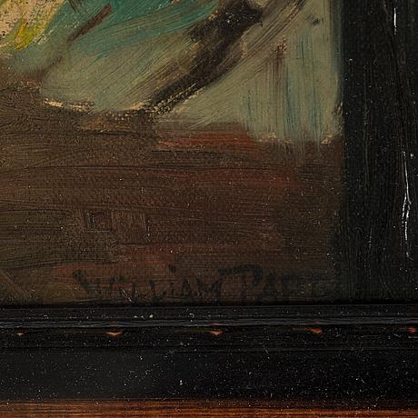 William pape, oil on panel, signed william pape