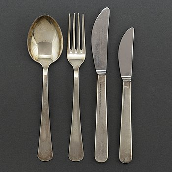 GAB, a Swedish 'Excellens' silver cutlery, Stockholm, 1960s.
