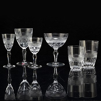 EDWARD HALD, a part 'Rio' glasservice, from Orrefors (60 pieces).