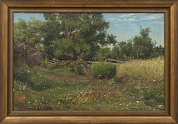 JACOB SILVÉN, oil on canvas, signed and dated Råholmen -78.