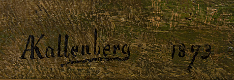 Anders kallenberg, oil on canvas, signed and dated 1873