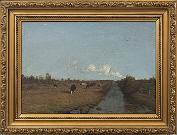 ANDERS KALLENBERG, oil on canvas, signed and dated 1873.