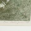 Ola billgren, litografi, signerad, ea och daterad 79
