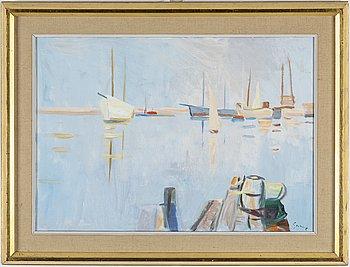 CARL GUNNE, oil canvas, signed.