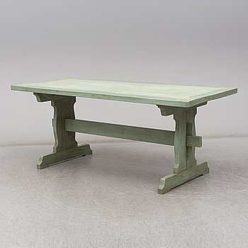 A trestle table, second half of the 20th century.