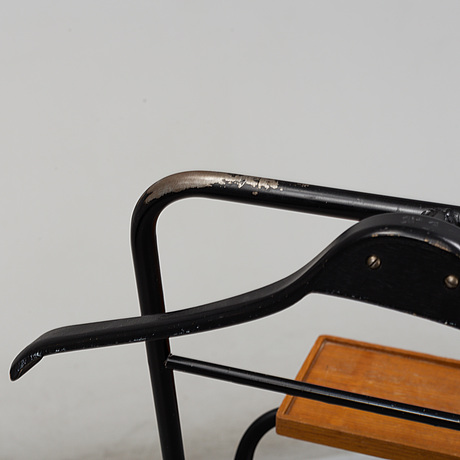 A clothes hanger from the mid 20th century.