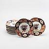 A set of 8 imari porcelain plates