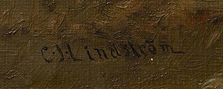 Carl johan lindstrÖm,  olja på duk signerad