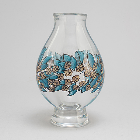 Jan johansson, a graal vase, signed and dated 1971