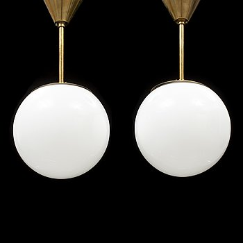 a pair of ceiling lamps from the second half of the 20th century.