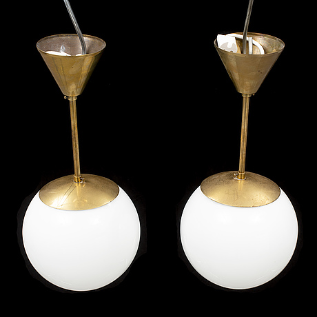 A pair of ceiling lamps from the second half of the 20th century