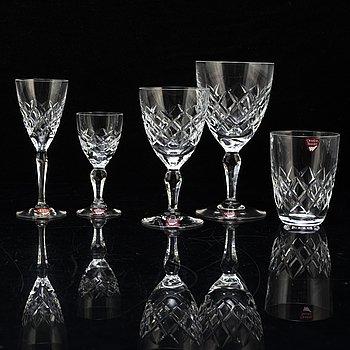 GUNNAR CYRÉN, a part 'Karolina' glass service, from Orrefors (58 pieces).