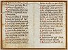 Fragment of manuscript, on parchment, a page from a song book, probably 18th c