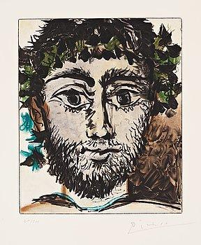 """666. Pablo Picasso After, """"Tête de faune""""."""