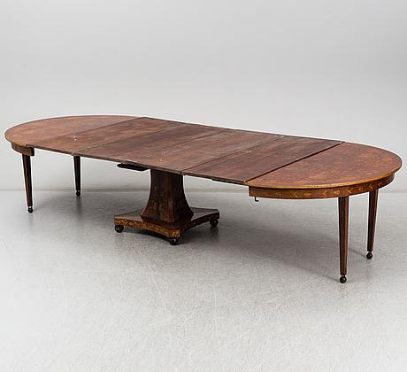 Matsalsbord, holland, senempire, 1800-talets mitt.