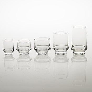 TAPIO WIRKKALA 32-piece Marski Glassware set by Iittala.
