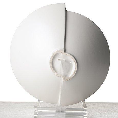 "Wilhelm kåge, a set of three ""surrea"" stoneaware vases and a bowl, gustavsberg studio, sweden."